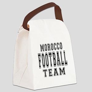 Morocco Football Team Canvas Lunch Bag