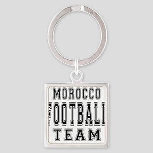 Morocco Football Team Square Keychain