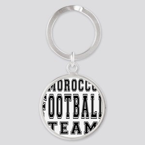 Morocco Football Team Round Keychain