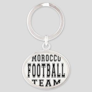 Morocco Football Team Oval Keychain