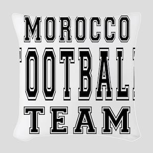 Morocco Football Team Woven Throw Pillow