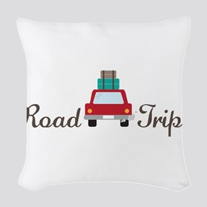 Road Trip Woven Throw Pillow