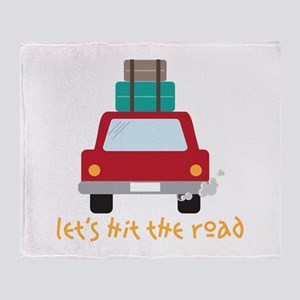 Lets hit the road Throw Blanket