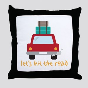 Lets hit the road Throw Pillow