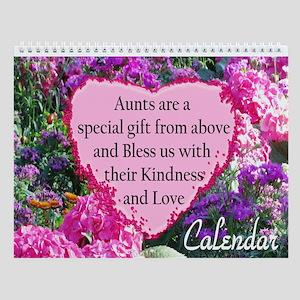 Loving Aunt Wall Calendar