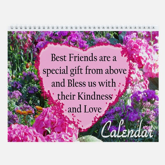 Best Friends Love Wall Calendar