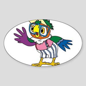 Popugay Oval Sticker