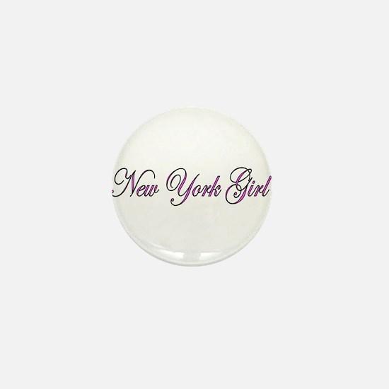 New York Girl Mini Button
