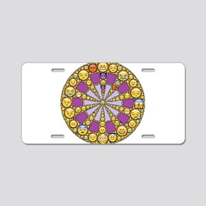 Circle of Emotions Aluminum License Plate