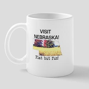 Visit Nebraska . . . Flat But Mug