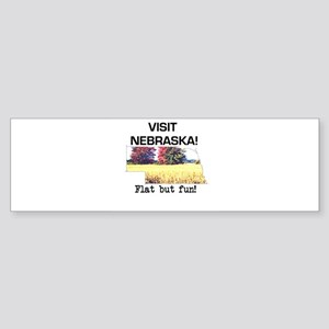 Visit Nebraska . . . Flat But Bumper Sticker