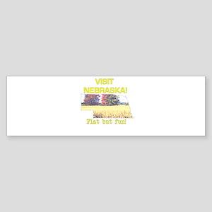 Visit Nebraska . . . Flat But Bumper Sticker