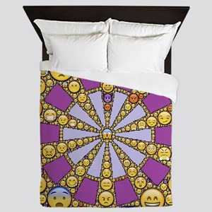 Circle of Emotions Queen Duvet
