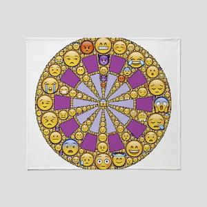 Circle of Emotions Throw Blanket