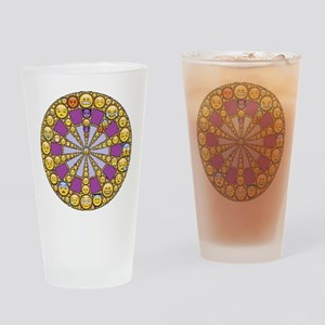 Circle of Emotions Drinking Glass