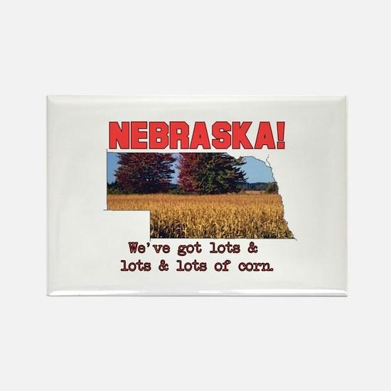Nebraska . . . We've Got Lots Rectangle Magnet
