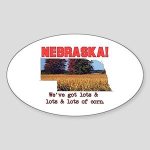 Nebraska . . . We've Got Lots Oval Sticker