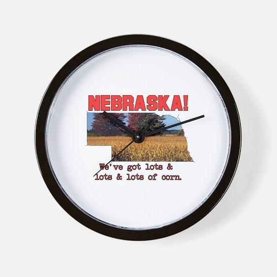 Nebraska . . . We've Got Lots Wall Clock