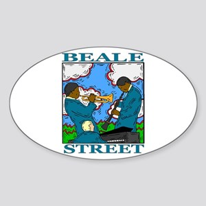 Beale Street Oval Sticker
