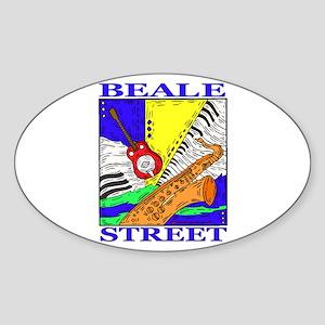 Beale Street Oval Sticker