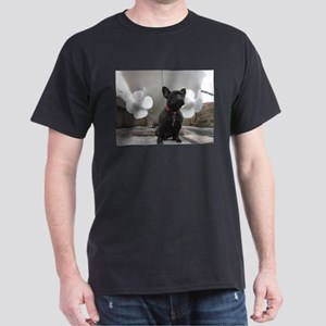 Black French Bulldog with Ship T-Shirt
