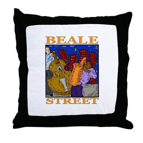 Beale Street Throw Pillow