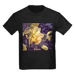Moonlight Daffodils Kids Dark T-Shirt