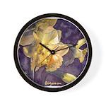 Moonlight Daffodils Wall Clock