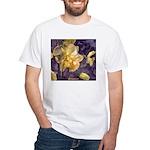 Moonlight Daffodils White T-Shirt