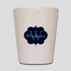 Elegant Monogrammed Design by LH Shot Glass