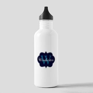 Elegant Monogrammed Design by LH Water Bottle