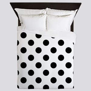 Black and White Polka Dots Queen Duvet