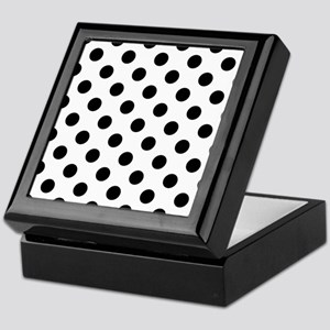 Black and White Polka Dots Keepsake Box
