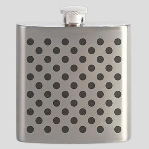 Black and White Polka Dots Flask