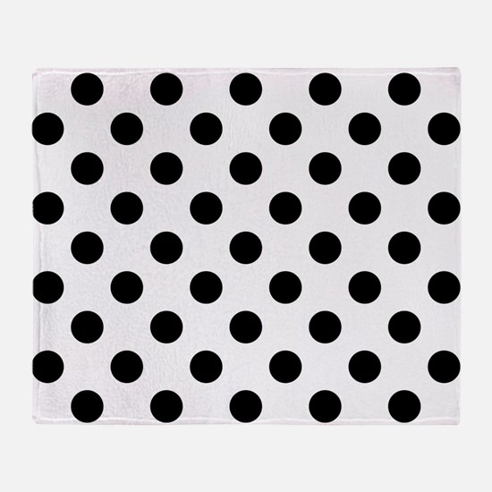 Cute Polka dots Throw Blanket