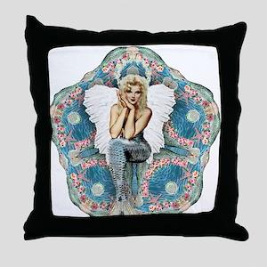 Sand Dollar Angel Throw Pillow