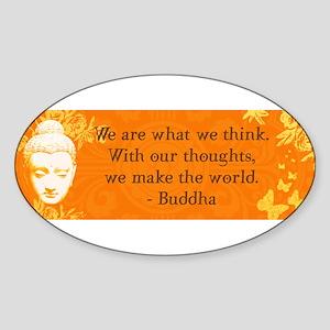 buddha_bumper thoughts copy Sticker
