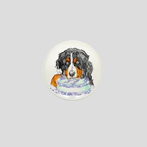 Bernese MT Dog Birthday Mini Button