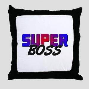 SUPER BOSS Throw Pillow