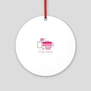 Mrs. Fix -it Ornament (Round)