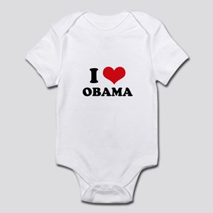 I Love (Heart) Obama Infant Bodysuit