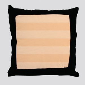Striped Peach Stripes Throw Pillow