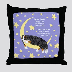 Bernese MT Dog Twinkle Throw Pillow