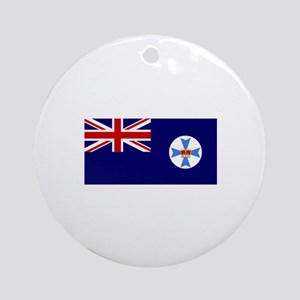Queensland flag Ornament (Round)
