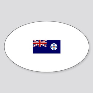 Queensland flag Oval Sticker
