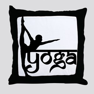 Yoga Standing Bow Pulling Pose Throw Pillow