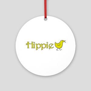 Hippie Chick Ornament (Round)