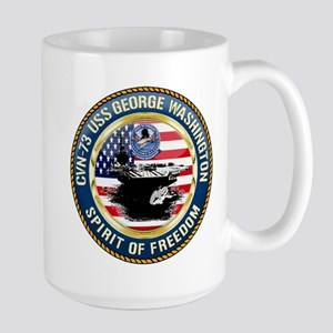 CVN-73 USS George Washington Large Mug