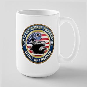 CVN-73 USS George Washington Large Mug