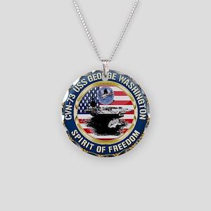 CVN-73 USS George Washington Necklace Circle Charm